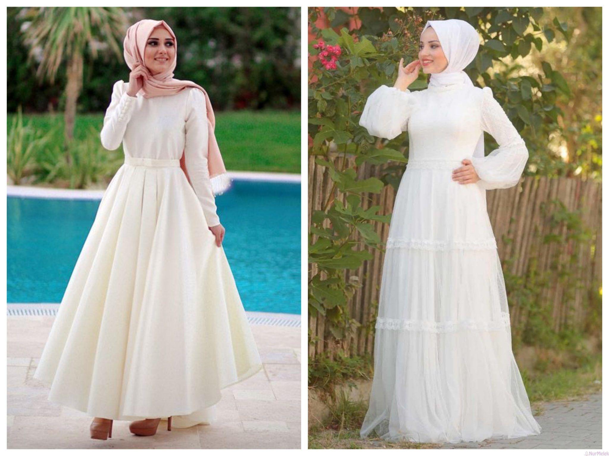 En Guzel 20 Beyaz Tesettur Abiye Modeli 2020 Victorian Elbiseler Kadin Elbise