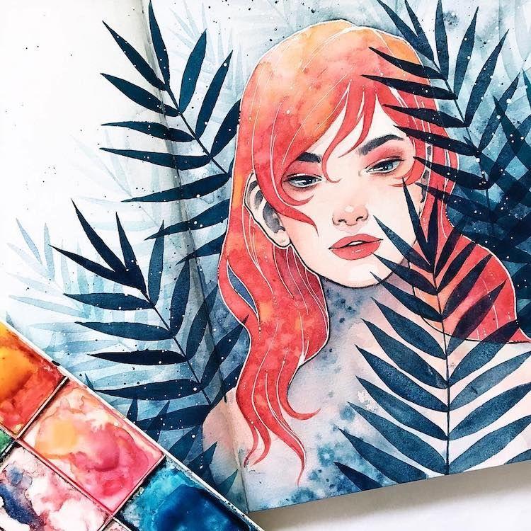 Les Portraits Etheres En Aquarelle De Hieu Les Arts Image A