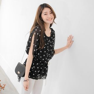 Buy OrangeBear Polka Dot Chiffon Blouse at YesStyle.com! Quality products at remarkable prices. FREE WORLDWIDE SHIPPING on orders over US$35.