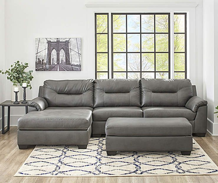 Signature Design By Ashley Carrillo Gray Living Room Collection At Big Lots Affordable Living Room Furniture Leather Couches Living Room Living Room Sets