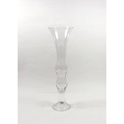 Wrought Studio Alyson Wavy Trumpet Glass Vase Wayfair In 2020 Glass Vase Vase Trumpet
