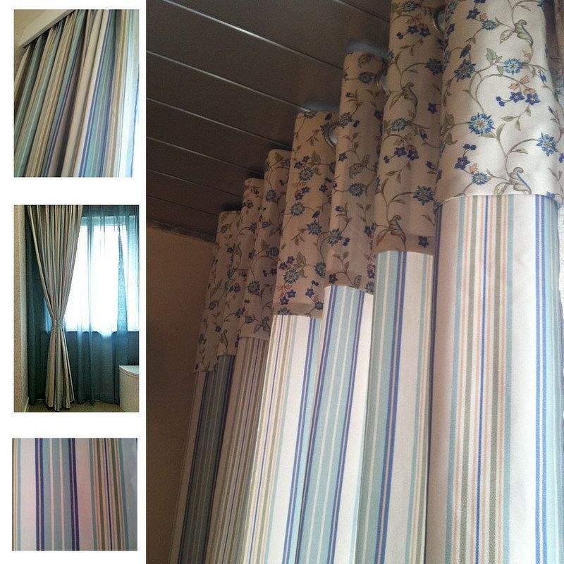 Blue Stripe 100 Cotton Curtain Fabric Curtain Customize Incurtains From Home Garden On Aliexpress Com With Images Cotton Curtains Curtain Fabric Blue Stripes