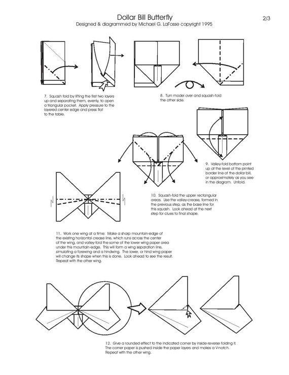 butterfly money origami insect animal dollar bill cash sculptors rh pinterest com Origami Star Diagram Origami Box