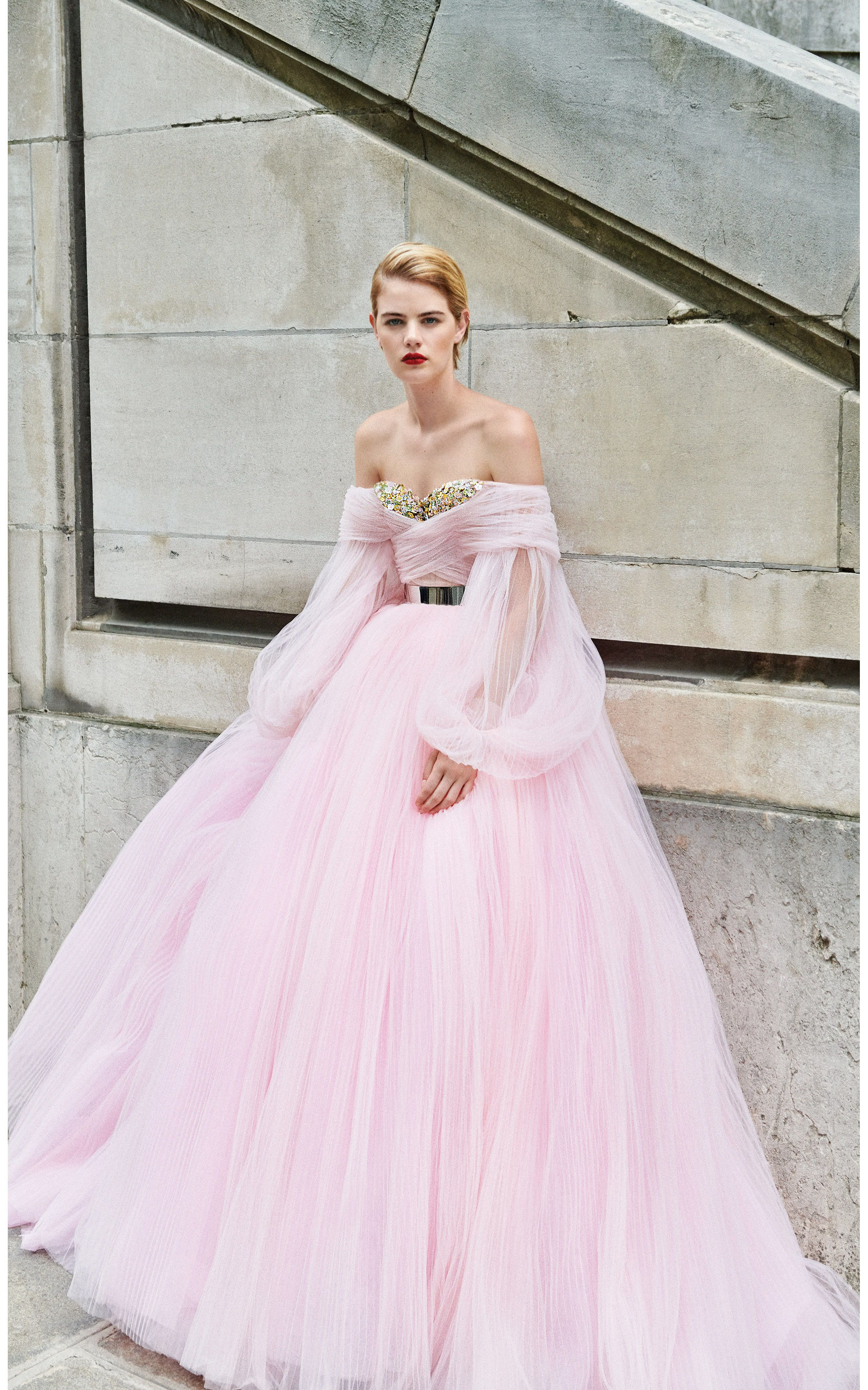 0ecf0bef4c Stunning and beautiful the pink  LucilleBall gown from the Galia Lahav  And  God Created Woman  haute couture fall 2018 collection features an  embroidered ...