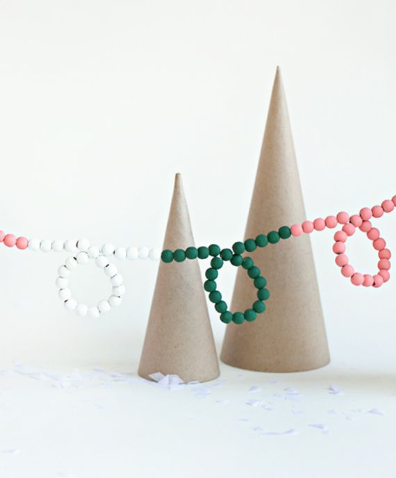 Bright Beaded Garland • A Subtle Revelry #fabrictape