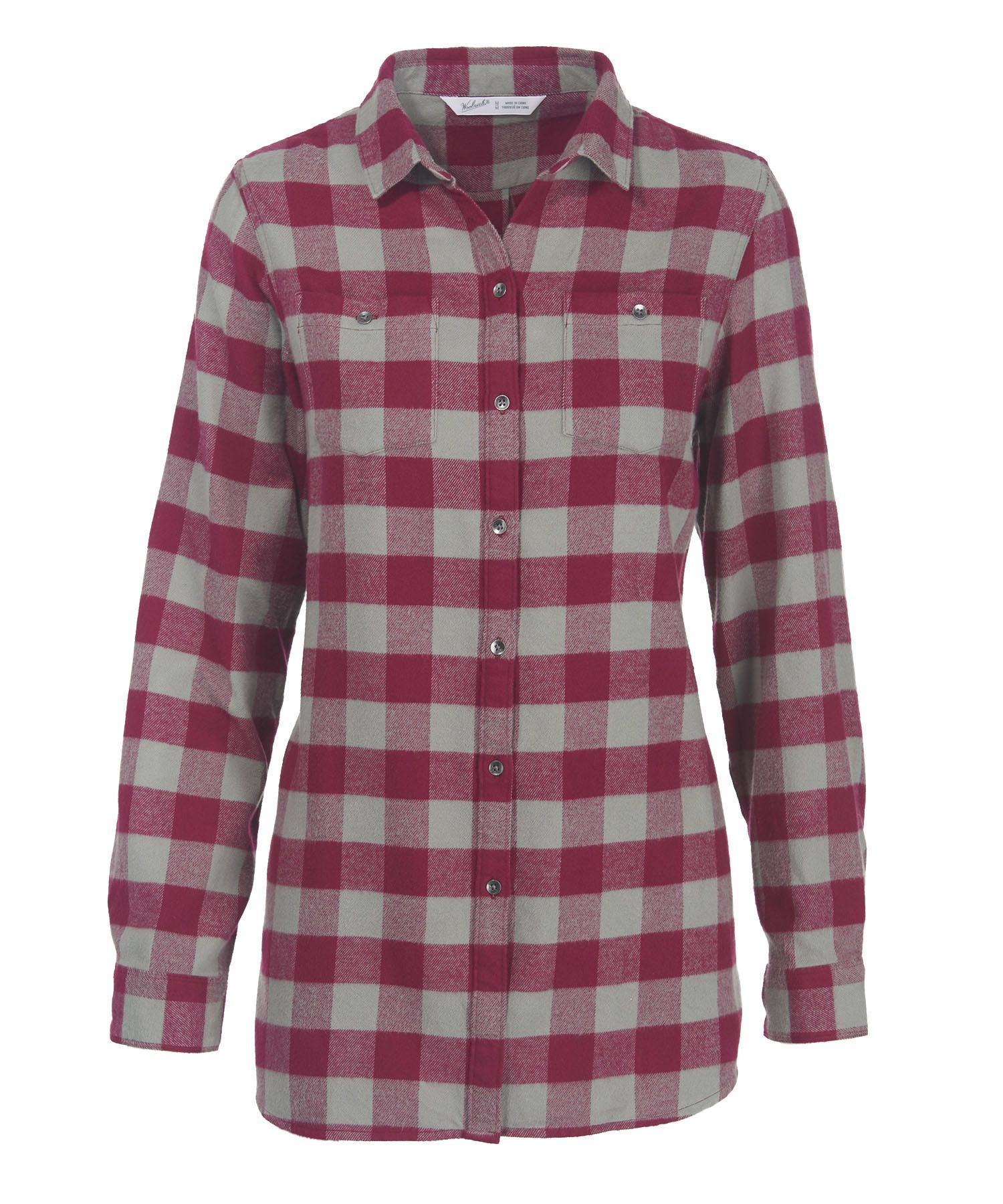 Gangster flannel shirts  Womenus Buffalo Check Boyfriend Tunic Flannel Shirt  Clothing