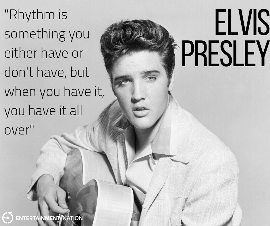 Inspirational Elvis Presley Black White Inspirational Motivational Quote Poster
