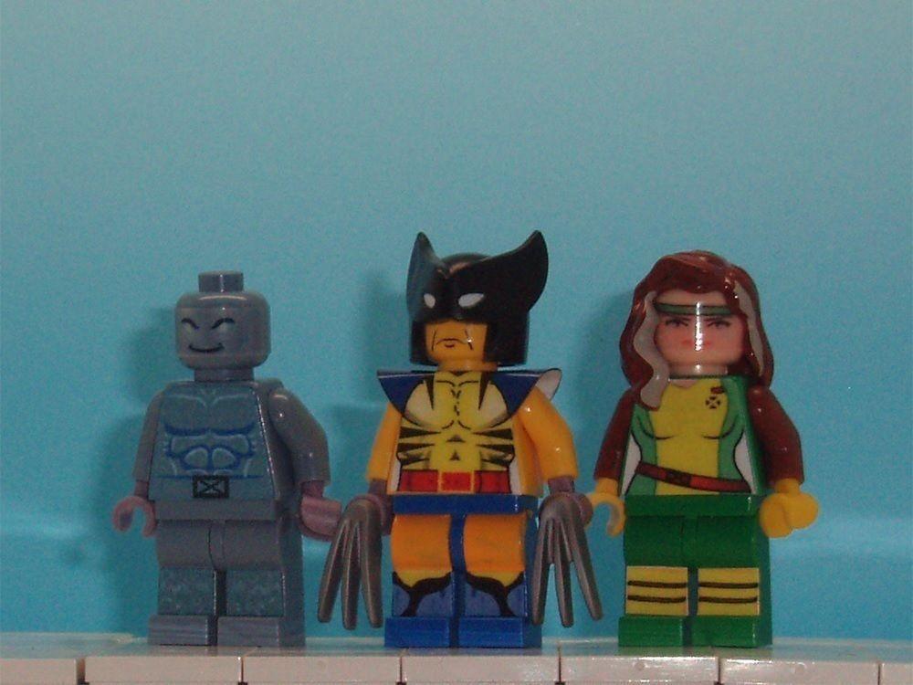 6 Malvorlagen Lego Superheroes: Custom Lego Marvel Superheroes X Men Set 3 Wolverine Rogue