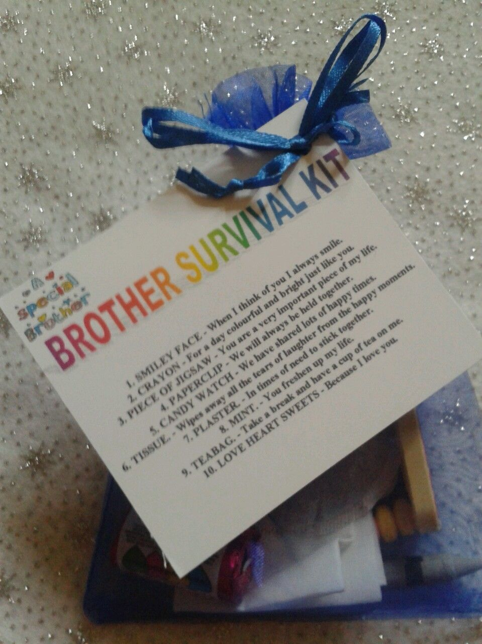 BROTHER SURVIVAL KIT Novelty Keepsake Birthday Gift Present For Him