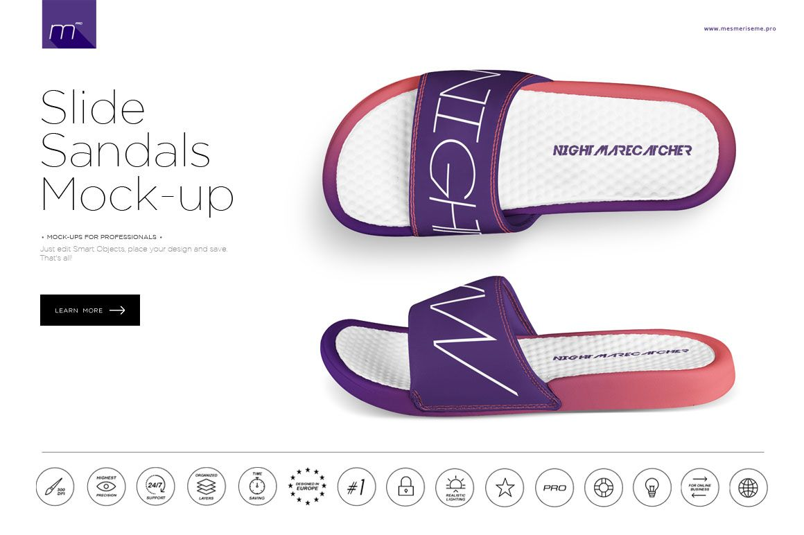 e51ecf4cb Slide Sandals Mock-up