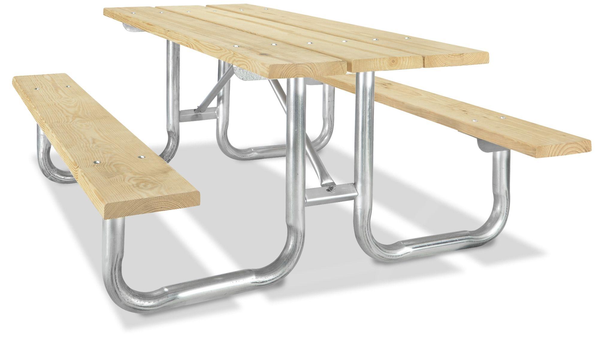 Steel Frame Picnic Table In Stock Uline Mesa De Picnic