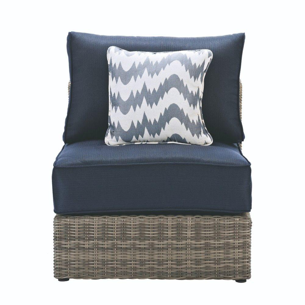 home decorators collection naples grey all weather wicker armless rh pinterest com