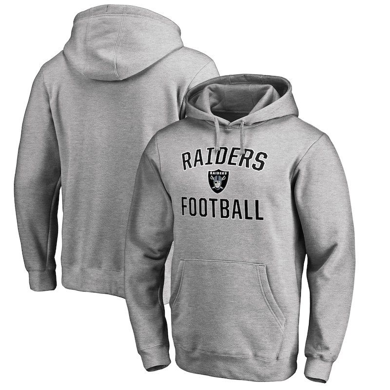 Oakland Raiders NFL Pro Line by Fanatics Branded Big   Tall Victory Arch  Pullover Hoodie – Heathered Gray b6721d5b0