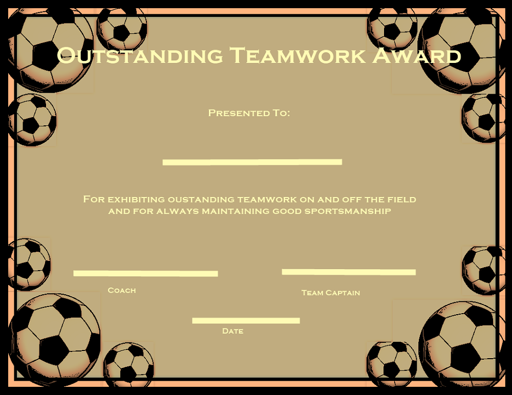 soccer certificate templates team k5 worksheets blank