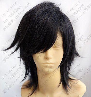 Final Fantasy Type-0 Machina Dark Blue Short Cosplay Costume Wig - free shipping worldwide