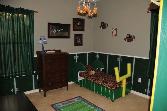 football bedroom boy sports room decor