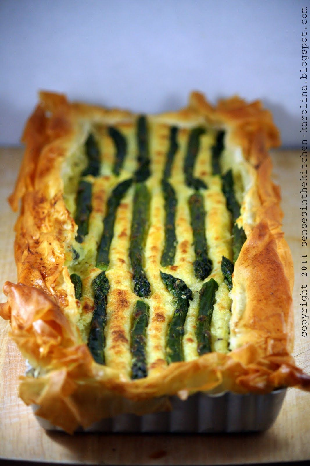 Senses in the kitchen asparagus potato filo pastry tart asparagus and phyllo pastry tart recipe source food forumfinder Gallery