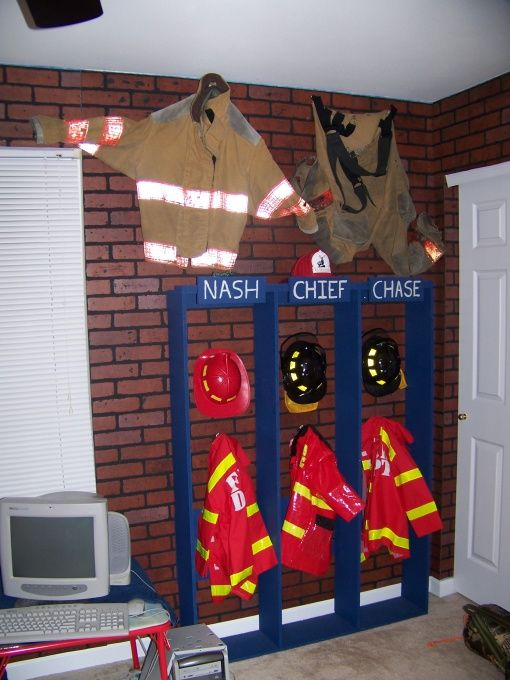 Fire Room My Childs Fire Room With Fire Bed Small City Scene And Fire Truck Bed Boys Rooms Design Fireman Room Firefighter Room Boy Room