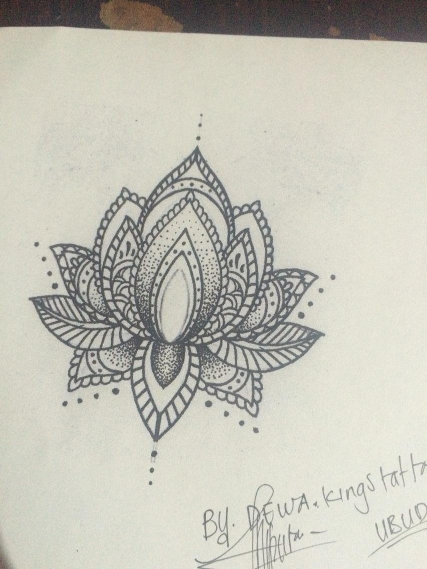 My Own Design And Soon To Be Tattoo Mandala Lotus Flower Tattoos