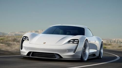 Porsche's Mission E, 600-HP electric concept car is powered by two permanent magnet synchronous motors and accelerates from 0-62 mph in just 3.5 seconds. (Source: Porsche GmbH)