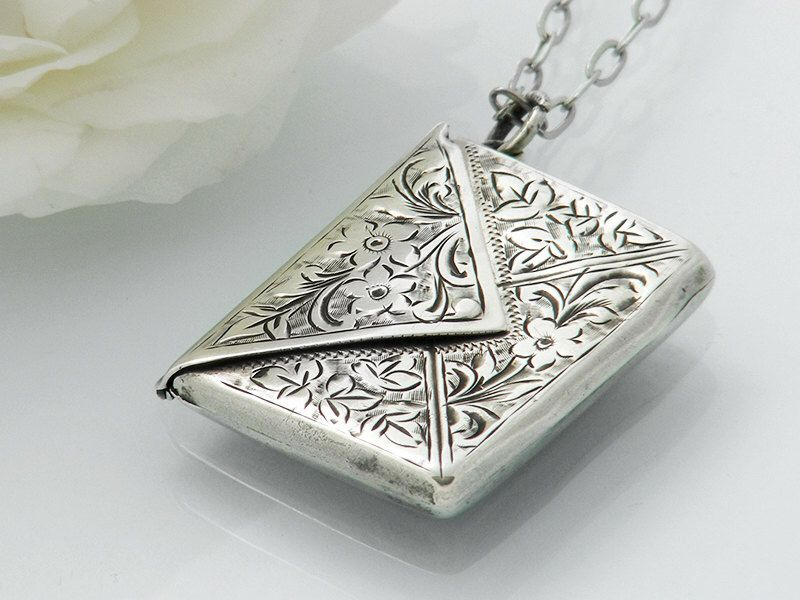 keepsake product memorial lebk necklace tm locket engraved lockets memories envelope jewelry cremation treasured sterling book silver