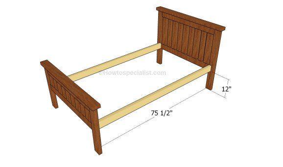 Assembling the frame of the bed Toddler beds boy diy Pinterest