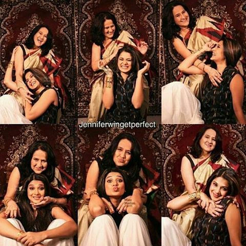 Jennifer Winget With Her Mom Beyhadh Maya Jennifer Winget Glamour Jennifer