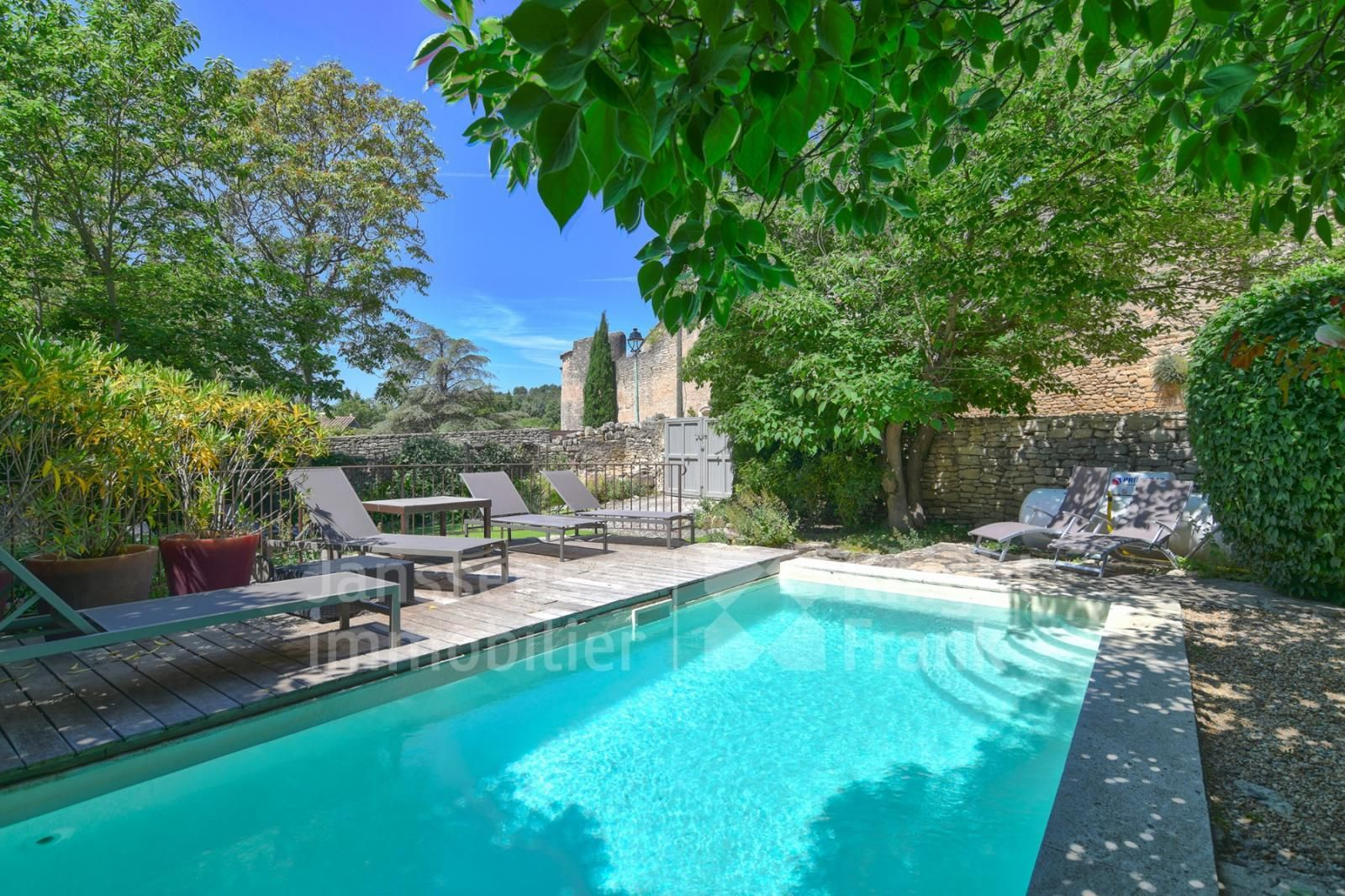 Village House With Swimming Pool And Garden For Sale In The Luberon Janssens Immobilier Provence Village Houses Swimming Pools Pool
