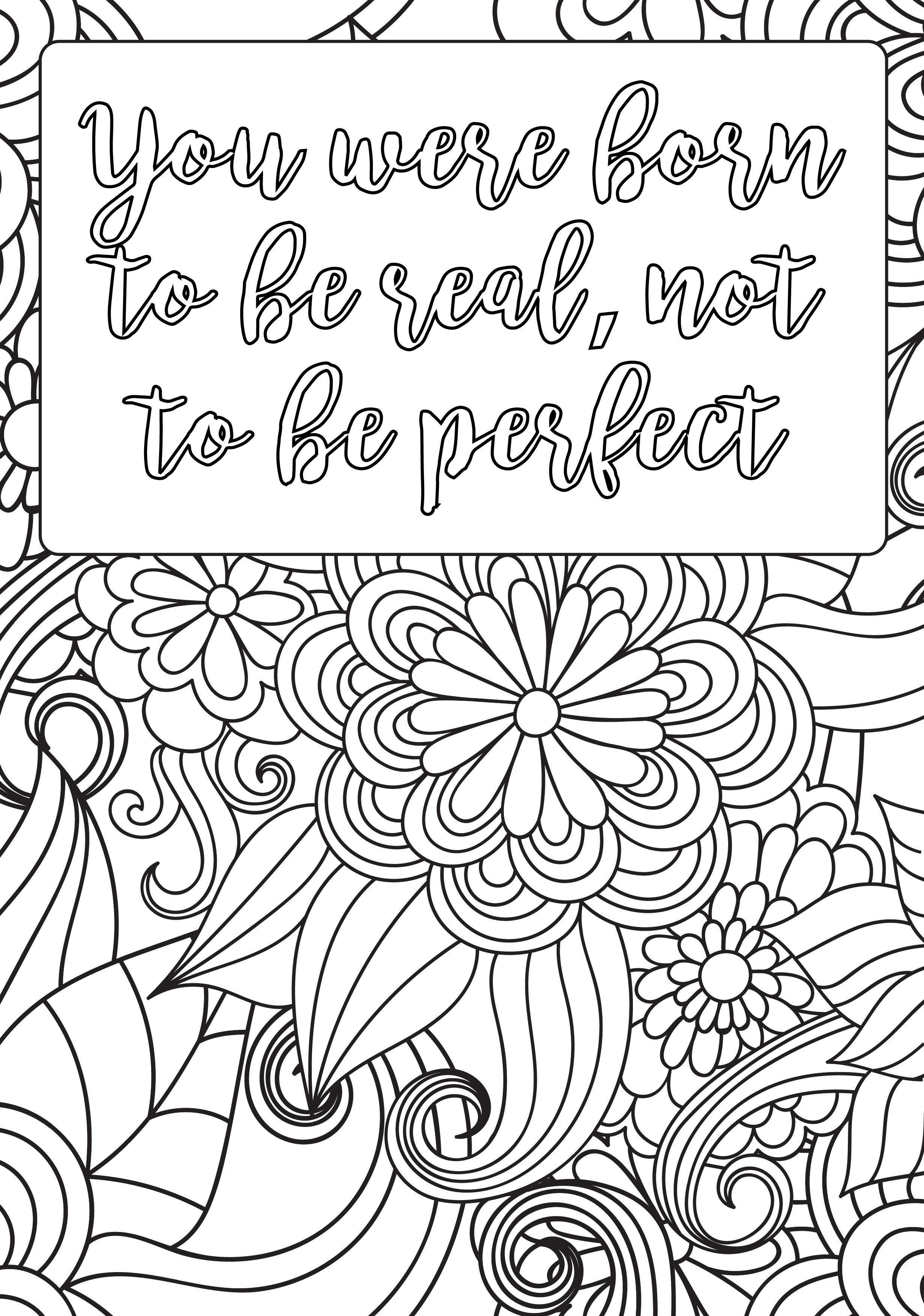 Self Esteem Positive Coloring Page
