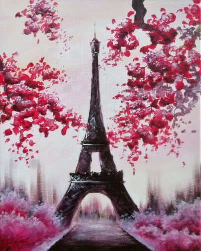 Join Us For A Paint Nite Event Thu Feb 22 2018 At 16600 Clubhouse Dr Fontana Ca Purchase Your Tickets Eiffel Tower Painting Paris Painting Eiffel Tower Art