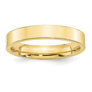 14k Yellow Gold 2mm LTW Flat Mens Womens Wedding Anniversary Band