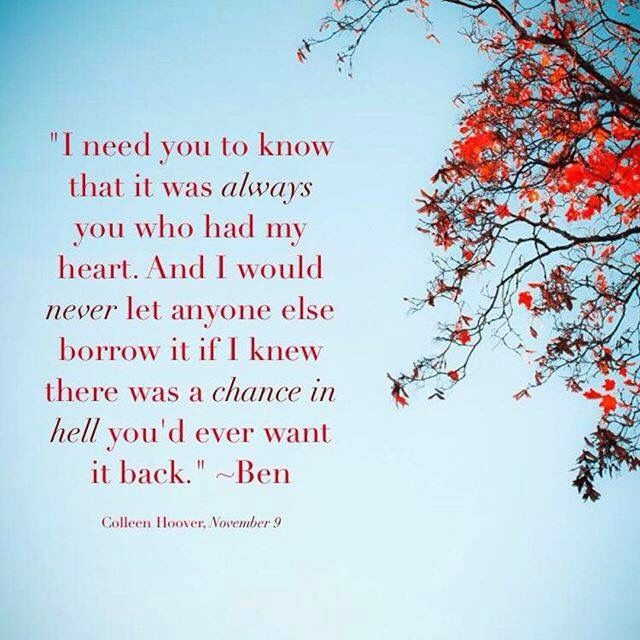 November Nine by Colleen Hoover   Colleen hoover quotes, Favorite ...