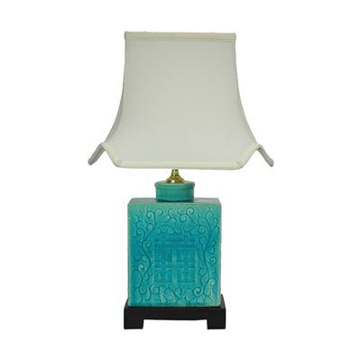 Delightful Oriental Furniture LMP JCO X6067 Turquoise Table Lamp Nice Look