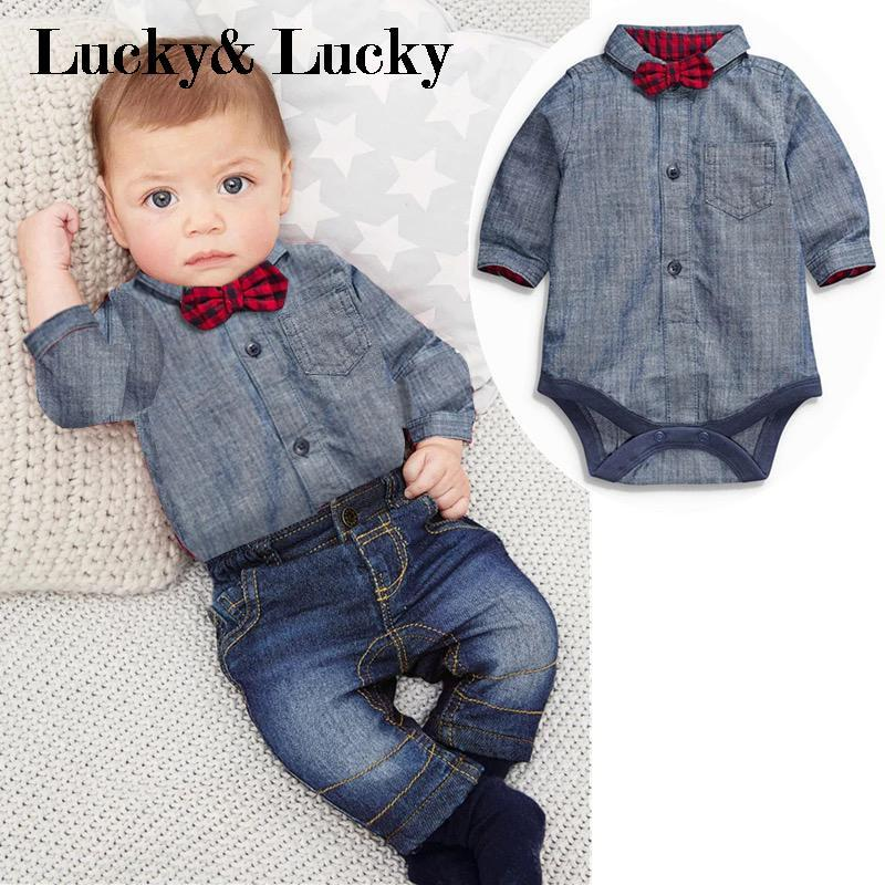 c02b3823d7d 2pcs set newborn gentleman. 2pcs set newborn gentleman Outfits For Baby Boys  ...
