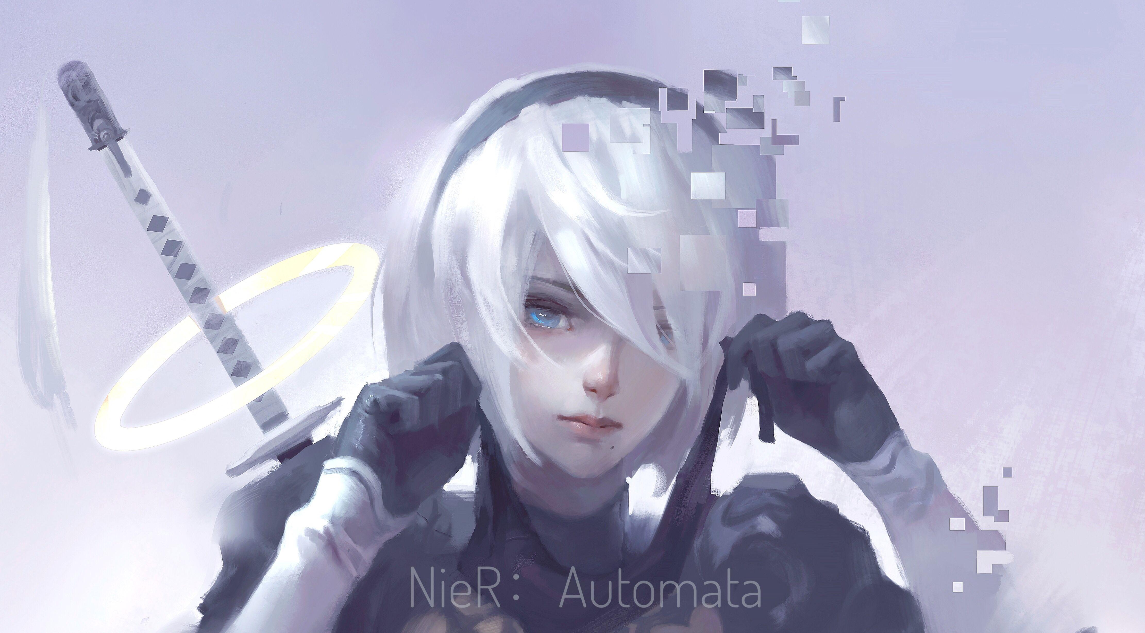 Nier Automata 2b Art By Dcchris Dễ Thương Hoạt Hinh