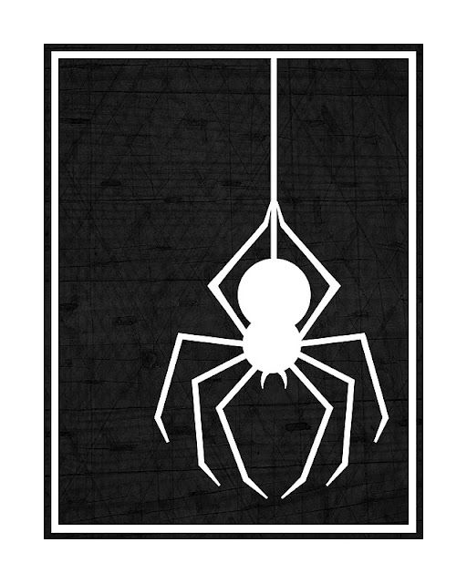 Kinzie's Kreations: Free Printable  spider- I can use this for the window silhouette. Cool.
