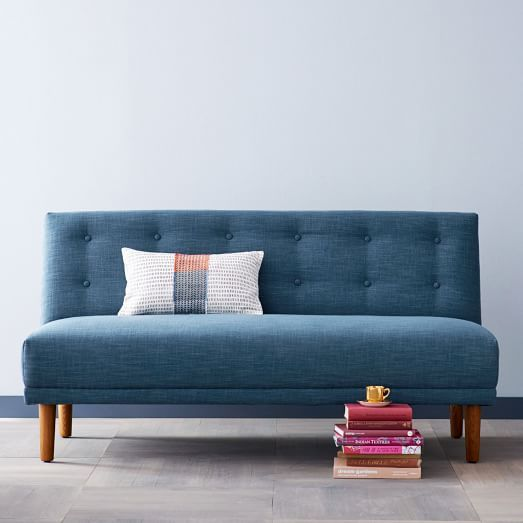 Rounded Retro Armless Sofa | west elm | Modern home ...