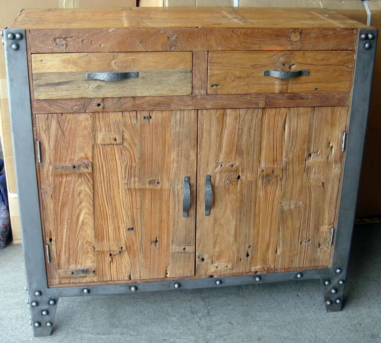 Perfect Industrial Sideboard With Iron Trim   Industrial Furniture | Interiors  Online   Furniture Online U0026 Decorating