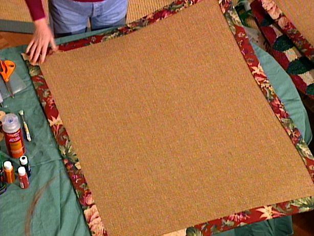 How To Make A Fabric Rug Border Fabric Rug Rugs Diy Rug