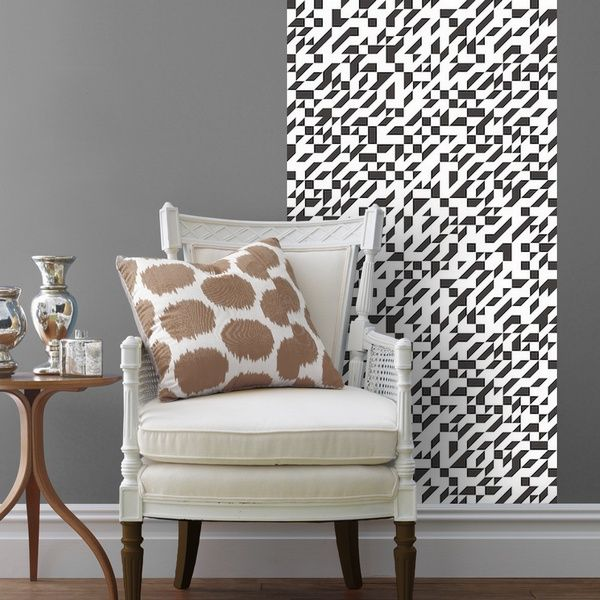 Peel And Stick Wallpaper With A Modern Houndstooth Design Find This Removable Wallpaper Tile At Canvasondemand Com Removable Wallpaper Home Decor Decor