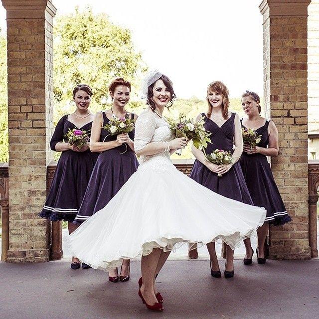 Braut Mit Ihren Brautjungfern Wunderschone Hochzeit In Potsdam