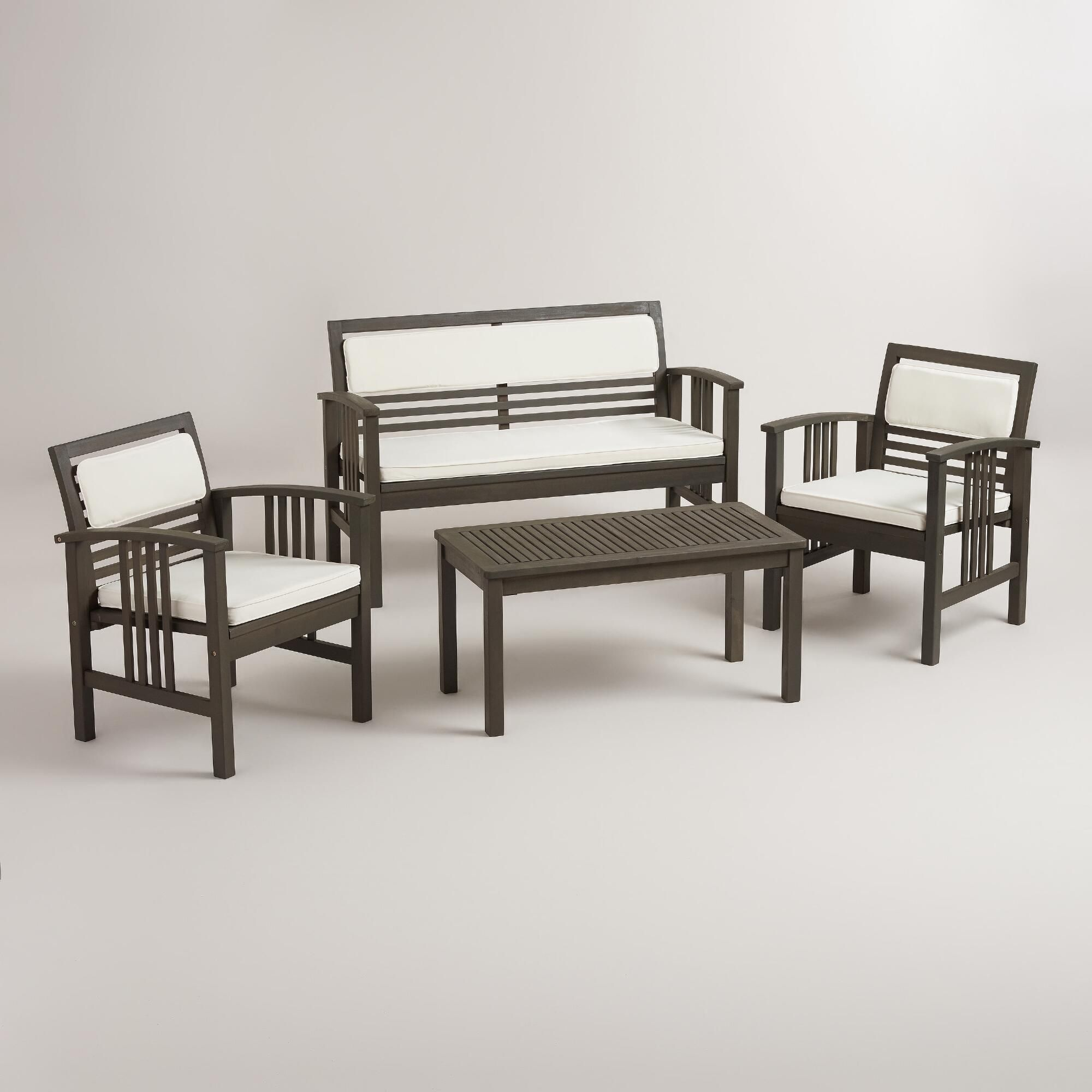 199 belize 4 piece outdoor occasional furniture set world market