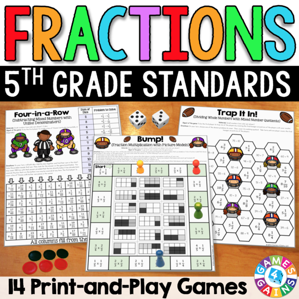 Fractions Games For 5th Grade Fraction Games 5th Grade Math Games Fractions