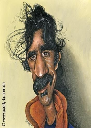 Frank Zappa by Paddy B via wittygraphy.com