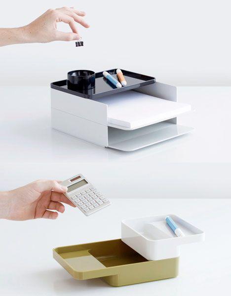 Formwork: Modern Modular Desk Organization Accessories