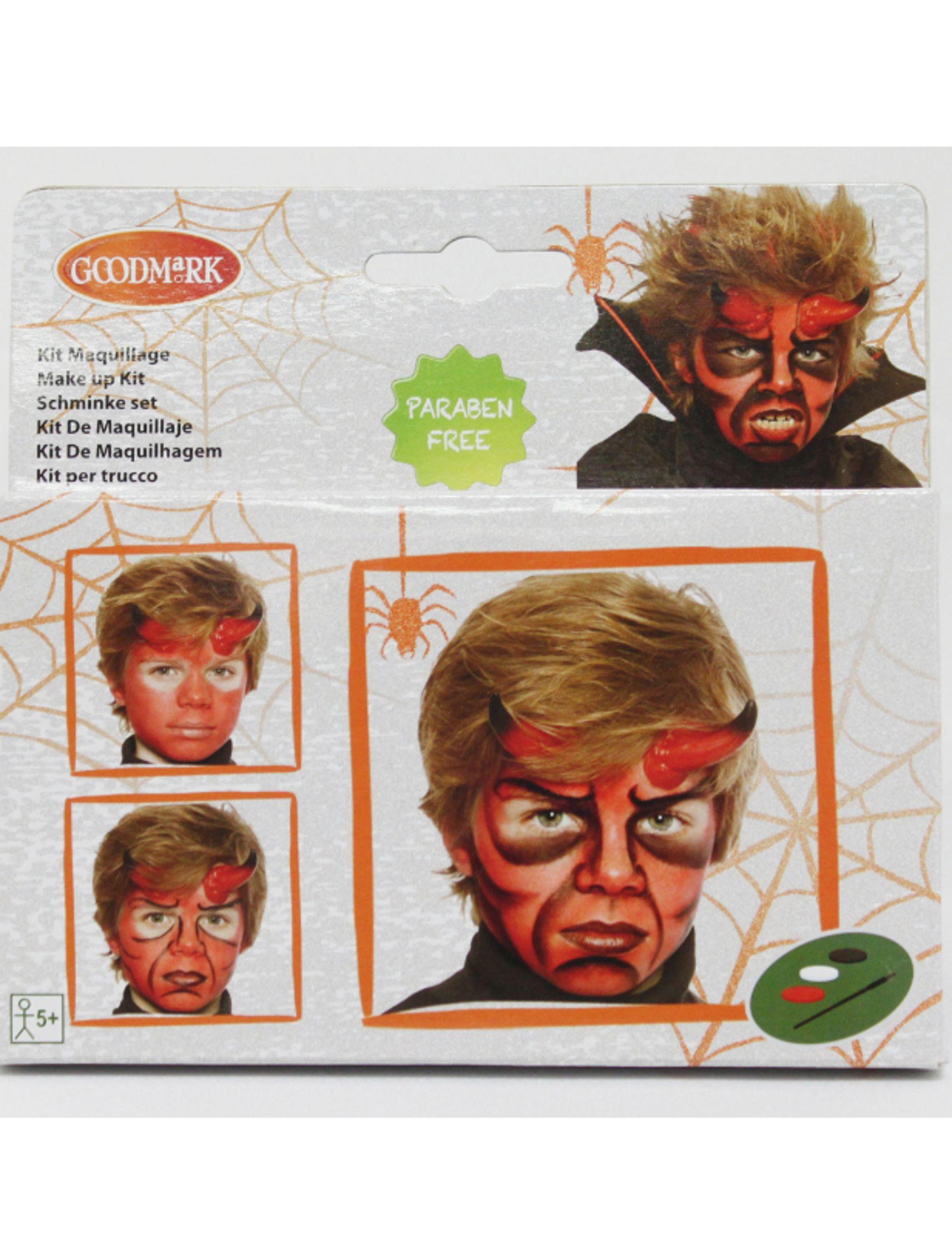 kit de maquillaje demonio nio halloween este kit de maquillaje para nio - Maquillaje Demonio