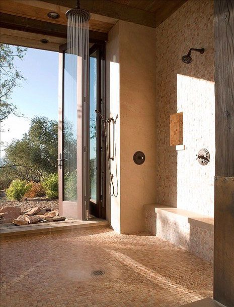 A Shower Oasis - This open-air shower is perfect for enjoying a ...