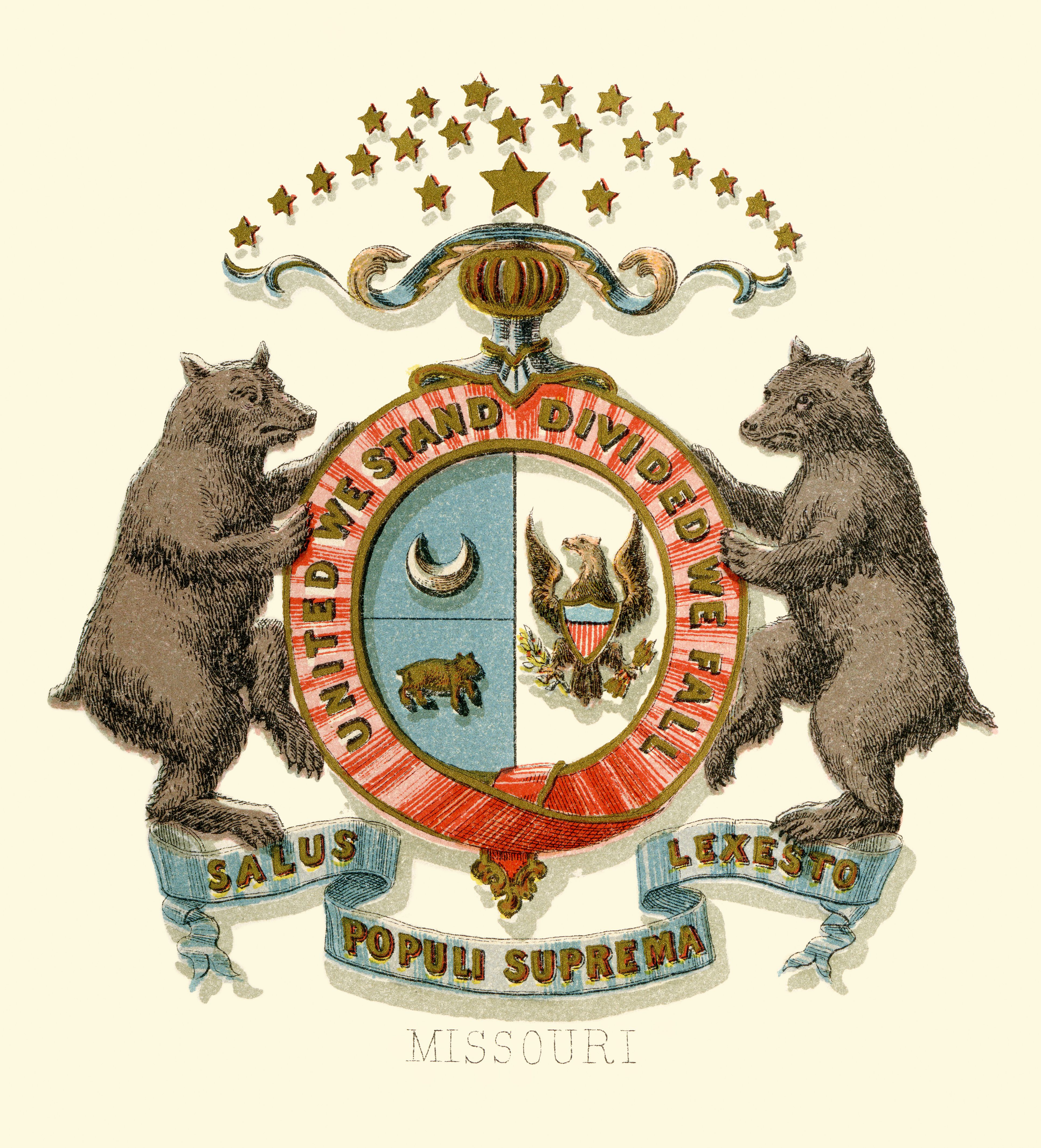 Missouri State Coat Of Arms Illustrated