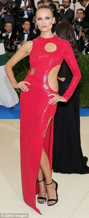 b9dee555f6b Doutzen Kroes and Behati Prinsloo attend the Met Gala