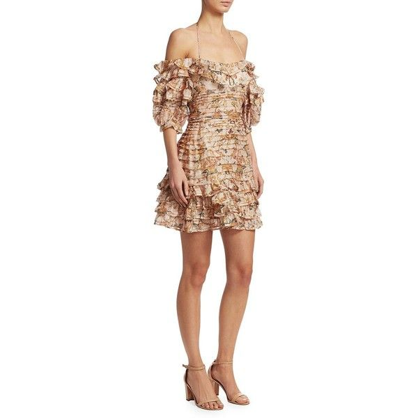 e64ed8228374 Zimmermann Painted Heart Folds Ruffle Dress ( 1